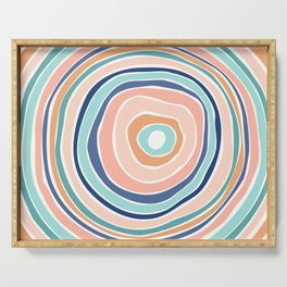 Rainbow (Infinite Loop) / Abstract Shapes Serving Tray