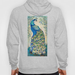 Blue Peacocks Hoody