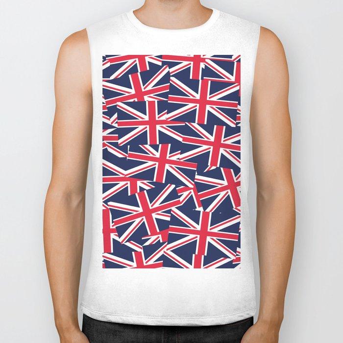 Union Jack Flags Biker Tank