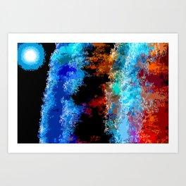 Cosmic Waves Art Print