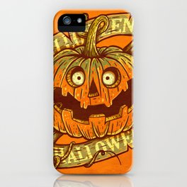 Halloween orange iPhone Case