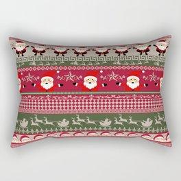 Santa Claus Ugly Sweater Rectangular Pillow