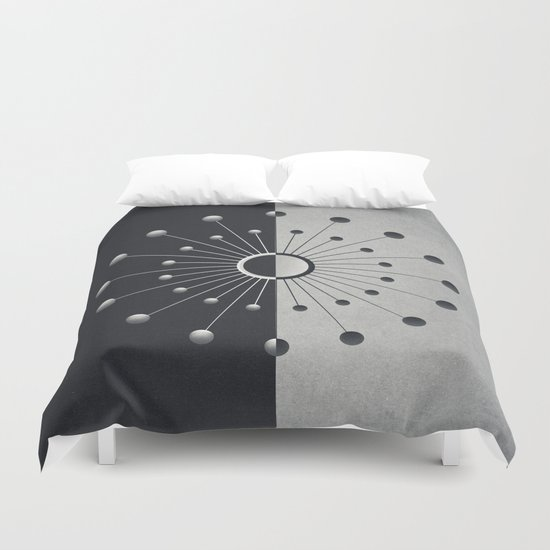 Darkness and Light Duvet Cover