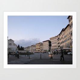 Piazza Santa Maria Novella Art Print