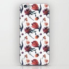 Artistic hand painted orange purple floral tulips pattern iPhone Skin