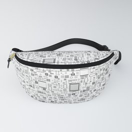 All Tech Line / Highly detailed computer circuit board pattern Fanny Pack