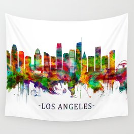 Los Angeles California Skyline Wall Tapestry