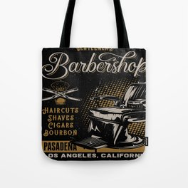 Gentlemen's Barber Shop LA Tote Bag