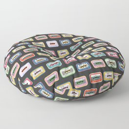Mixed Mix Tapes - Dark Background Floor Pillow