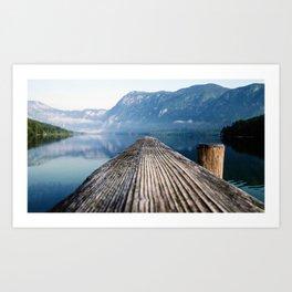 Pier At Lake Bohinj In Triglav National Park Slovenia Ultra HD Art Print