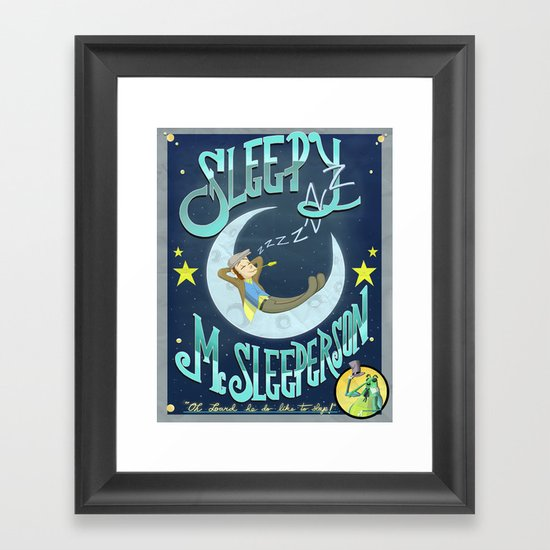 Sleepy McSleeperson Framed Art Print
