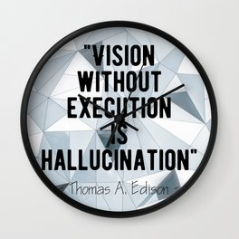 Motivational - Thomas A. Edison quote 1 Wall Clock