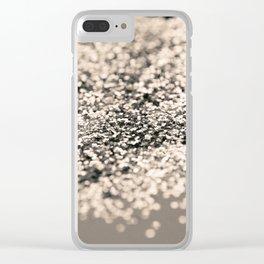 Sparkling Sepia Glitter #1 #shiny #decor #art #society6 Clear iPhone Case