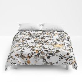 Gold Speckled Terrazzo Comforters