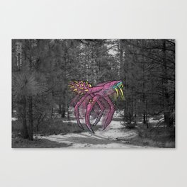 Unseen Monsters of Mount Shasta - Sqwizick Pinch Canvas Print