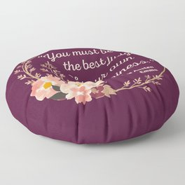 Emma By Jane Austen Quote I - Cute Style Floor Pillow