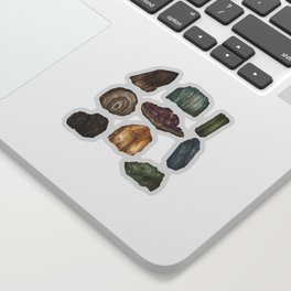 Gems and Minerals Sticker