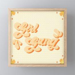 Girl Gang - Yellow Frame Framed Mini Art Print