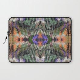 geometric symmetry pattern abstract background in green purple orange Laptop Sleeve