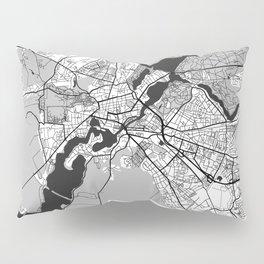 Potsdam Map Gray Pillow Sham