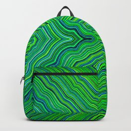 Abstract #9 - IV - Acid Green Backpack