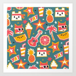 Summer is yay! Art Print