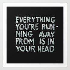 In your head Art Print