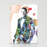 bond Stationery Cards featuring Bond, James Bond by NKlein Design