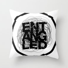 Entangled Logo Throw Pillow