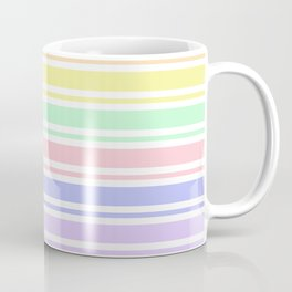 Pastel Rainbow Stripes Coffee Mug
