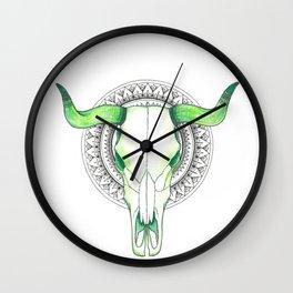 Mandala Taurus Wall Clock