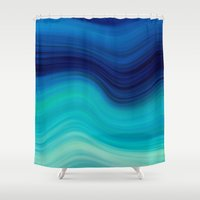 bedding Shower Curtains featuring SEA BEAUTY 2 by Catspaws