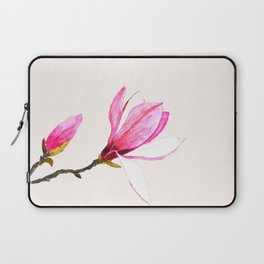 magnolia watercolor painting Laptop Sleeve