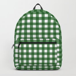 Vintage Green Gingham Backpack