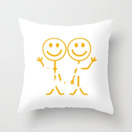 """A Nice Share Tee For A Sharing You """"Share A Smile"""" T-shirt Design Happy Happiness Smirk Beam Grin Throw Pillow"""