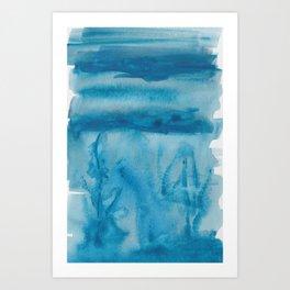 38  |  190408 Blue Abstract Watercolour Art Print