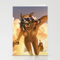tank girl Stationery Cards featuring Tank by PeppebBox