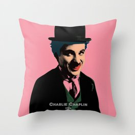 Charlie Chaplin Pop Art Style Picture Throw Pillow
