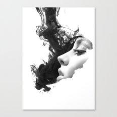 Smoke & woman Canvas Print