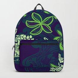 Hawaiian - Polynesian Emerald Tribal Turtles Backpack