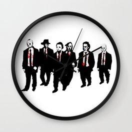 Reservoir Horror Icons Wall Clock