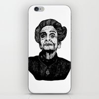 levi iPhone & iPod Skins featuring Rita Levi by Julian R Black