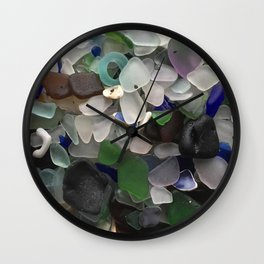 Sea Glass Assortment 3 Wall Clock