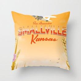 Smallville Kansas Sunset edition Throw Pillow