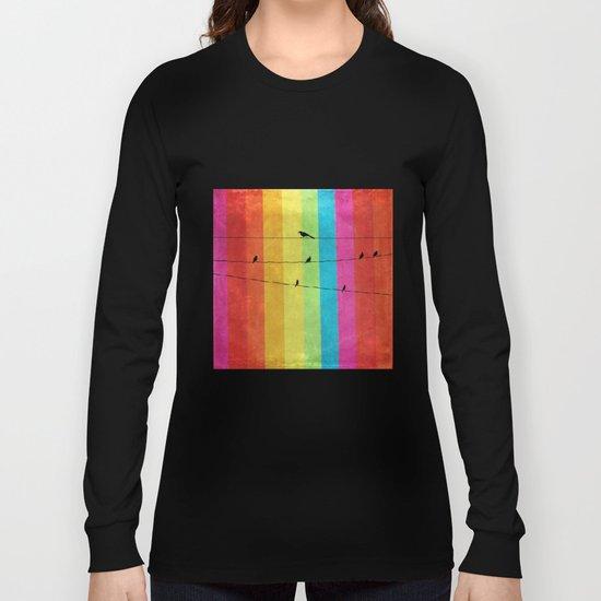 Rainbow Birds Long Sleeve T-shirt