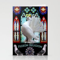 religion Stationery Cards featuring Pigeon Religion by Miranda Broadway