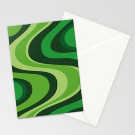70's Green Vibe Stationery Cards