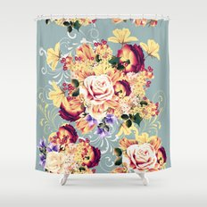 Roses and lilac. Beautiful victorian design Shower Curtain