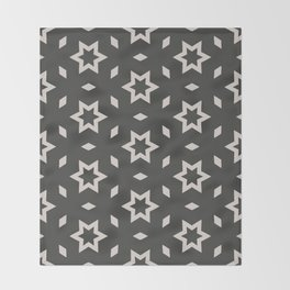 Black and white Stars Pattern Christmas Hollidays Throw Blanket