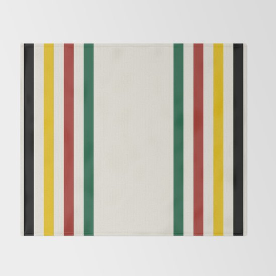Rustic Lodge Stripes Black Yellow Red Green by cafepretzel